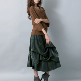 sueded dress _ volume skirt