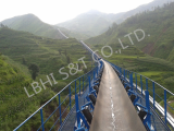 Large slope angle downward belt conveyor
