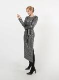 Korean knit party one_piece dress