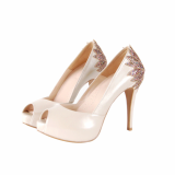 Pumps _ Rainbow Petal -Pearl Ivory color-