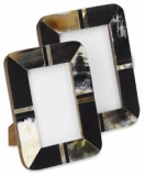 Buffalo Horn Photo Frames