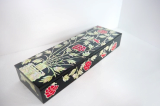 Mother of Pearl Pen Case with Peony Vase Design
