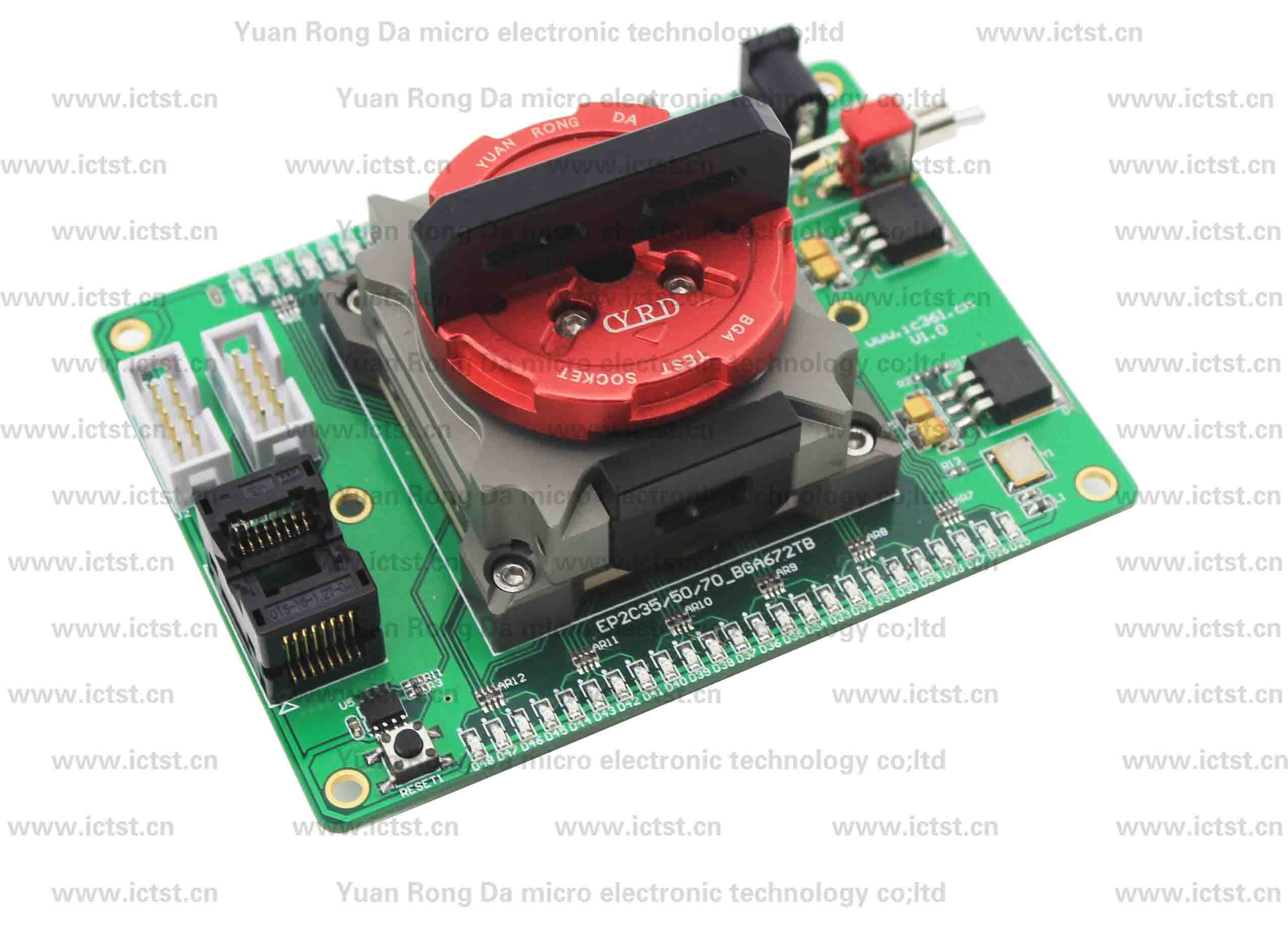 Testing Electronic Products For Companies : Ep s f c bga test socket fixture from