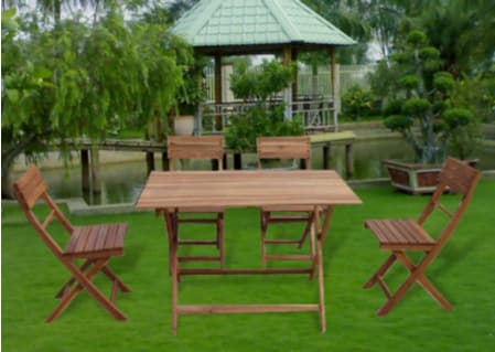 SET OF WOODEN TABLE