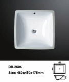 Square undermount sink