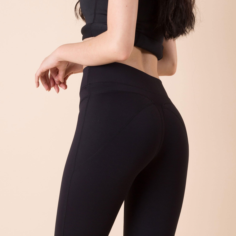 yoga pants and thong