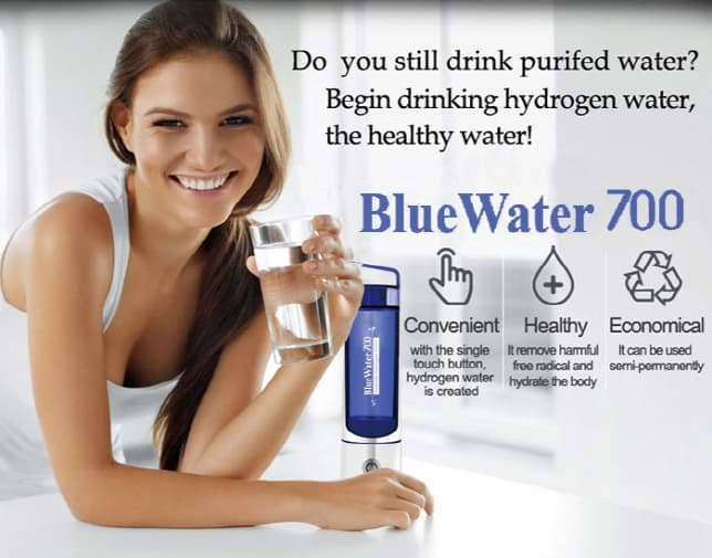 Portable Hydrogen Water Generator Blue Water 700 _ Drinking Healthy water