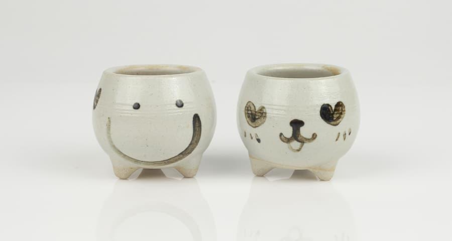 Decorative Air Plant Funny Face Ceramic Mini Pot Planter