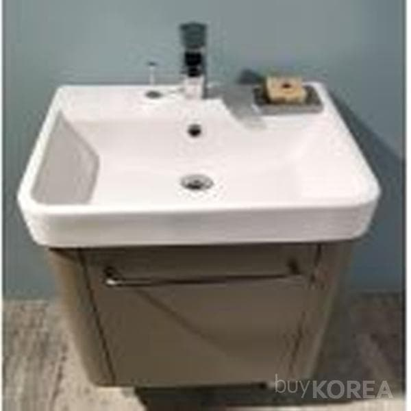 Solid surface  Washbasin with Vanity  Round  White