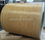 High quality wood grain color coated aluminum sheets