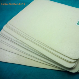 Nonwoven chemical sheet with glue on donble sides