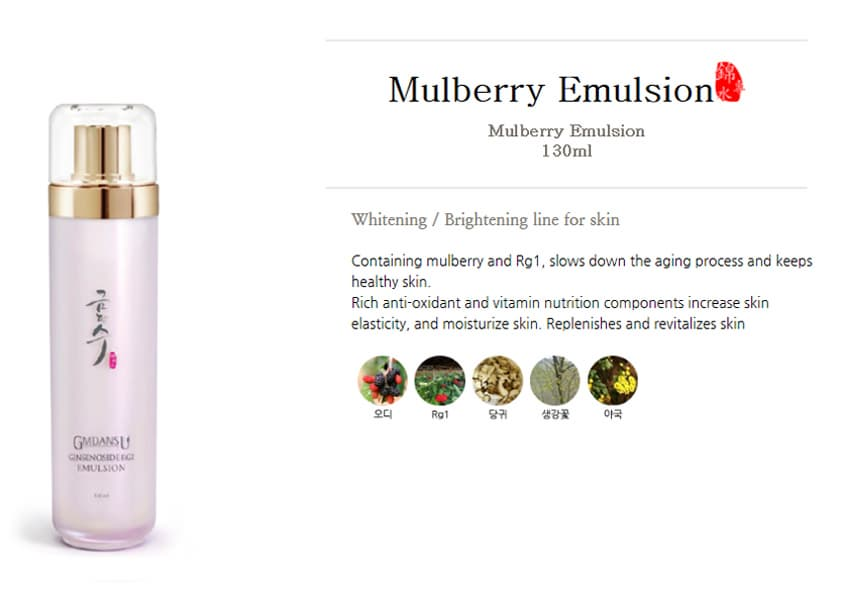 Gmdansu Mulberry Toner- Emulsion- Serum
