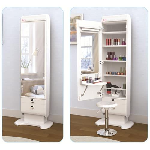Elegani Beauty Cabinet Vanity Standing Mirror Space