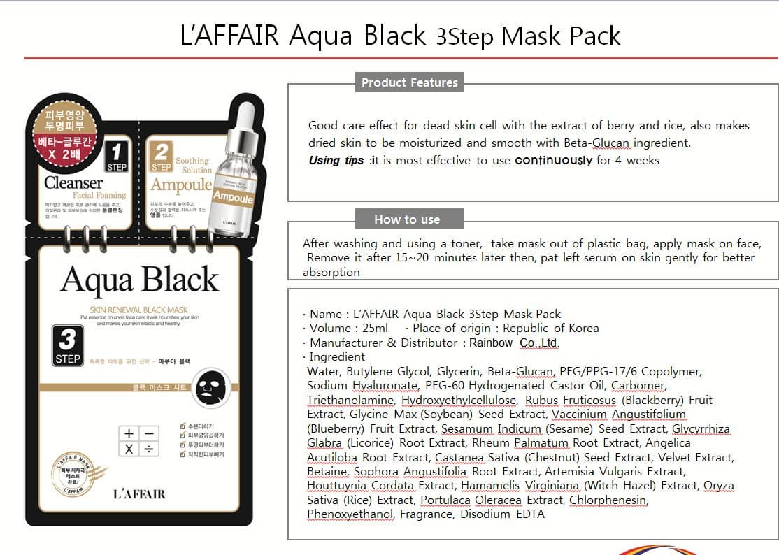 Rainbow Aqua mask pack_ Facial mask_ 3step  skincare mask