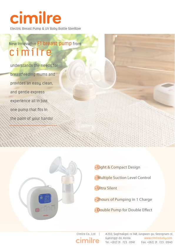CIMILRE F1 Breast Pump_ Rechargeable_ Portable_ HandsFree
