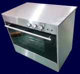 slide in gas oven