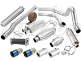 Exhaust mufflers_ catalyst converters_ tail pipes_ clamps