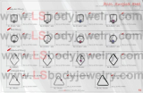 LS Body Jewelry, 316L SS Piercing, Various BCRs