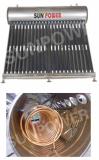 Copper coil Pre-heat type solar water heater
