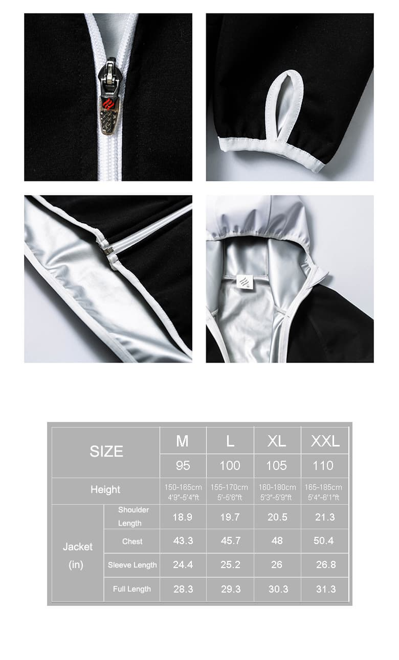Hotsuit W Jacket Hoodie zipper Sauna suit Jacket