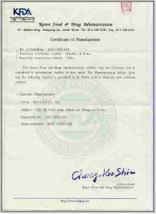 Certificate Of Manufacturer From Micro Nx Co Ltd B2b