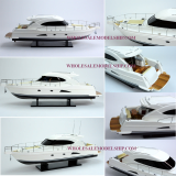 Riviera 4700 Sport Yacht Wooden Speed Boat Model