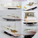 HANDCRAFTED PRINCESS 60 MODERN YACHT WOODEN SPEEDBOAT MODEL