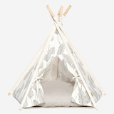 _Huts_Bay_ DOG TEPEE TENT_PALM IVORY