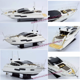 HANDCRAFTED SUNSEEKER PREDATOR 80 MODERN YACHT WOODEN MODEL