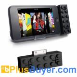 Building Brick Style Mini Speakers for iPod - Black