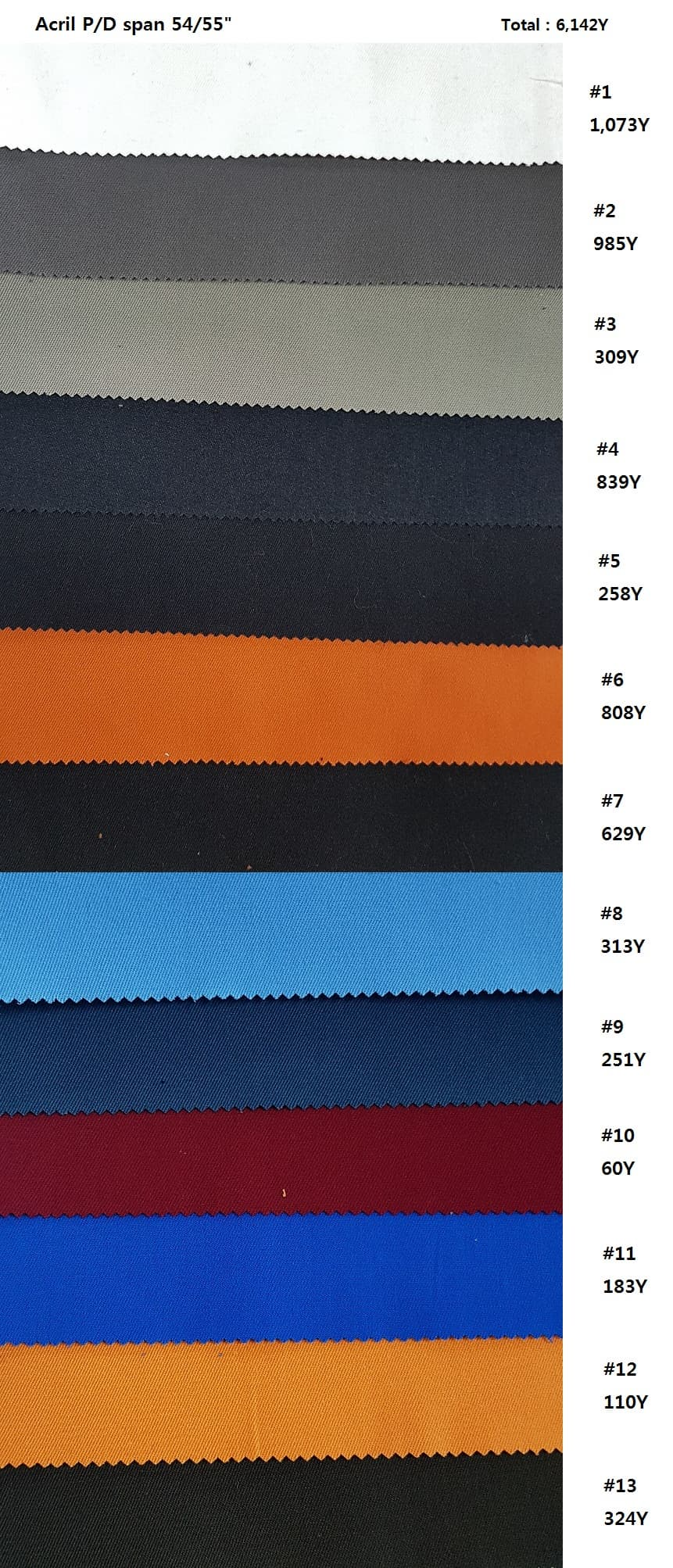 Acrylic Spandex Twill P_D 340GSM Woven 54_55_