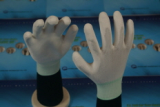 Polyester PU palm coated glove