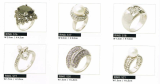 Diverse designed silver rings