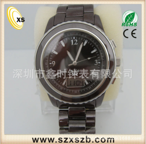 men index leather weite brand watches