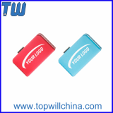 Tiny Metal Book Shape Sliding Flash Drive 16GB Free Logo