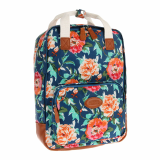 Wild flower print square backpack