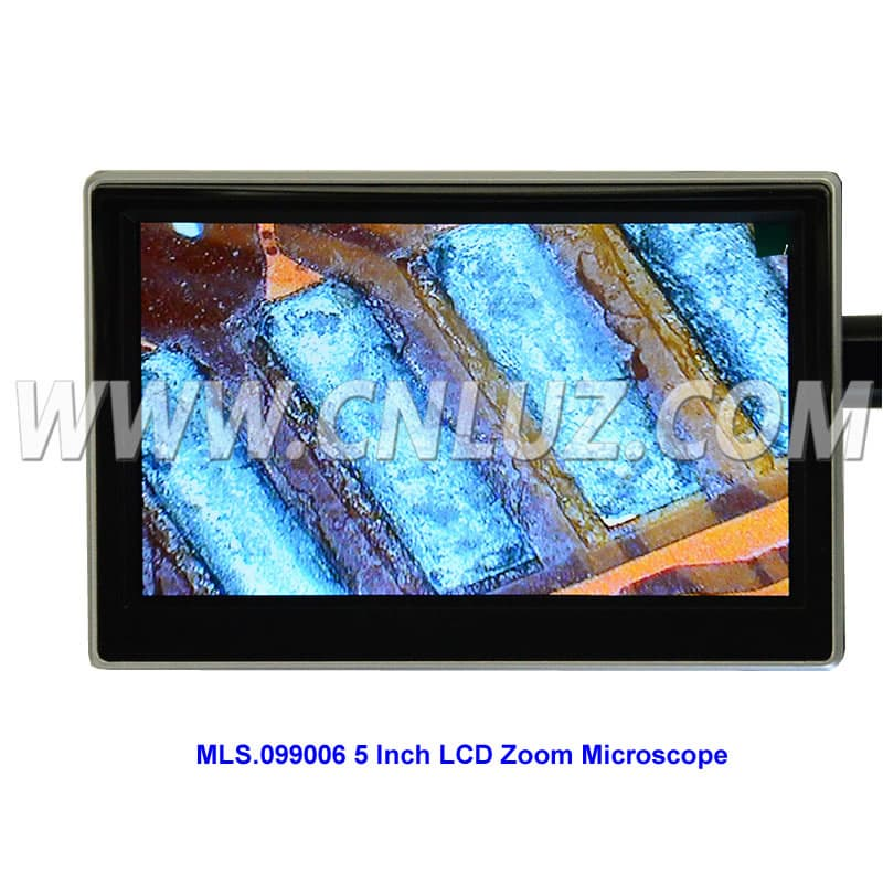 5 Inch LCD Zoom Microscope with LED for Repairing phone