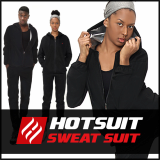 -Hotsuit G2 Black Zipper- Sauna Suits