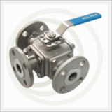 3/4/5Way Flanged Ball Valve, (1/2/3Piece), Stainless