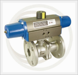 PNEUMATIC 2 Piece Flanged Ball Valve (Single, Double Acting)