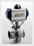 Sanitary Butterfly Valve, Automatic (Stainless)