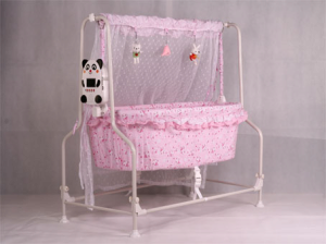 Pink Automatic Baby Cradle From Shenzhen Beixue Baby