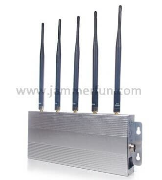 5 Antennas High Power 3G 4G Cell Phone Jammer