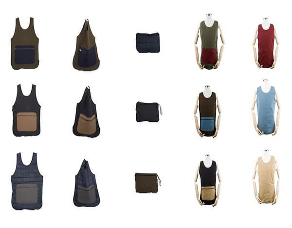 A handy bag you can wear as a vest Fabric and color changes