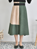 Two_Color Autumn Long Skirt