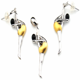 Onyx Gymnastics Rhythmic(pendant, earring)