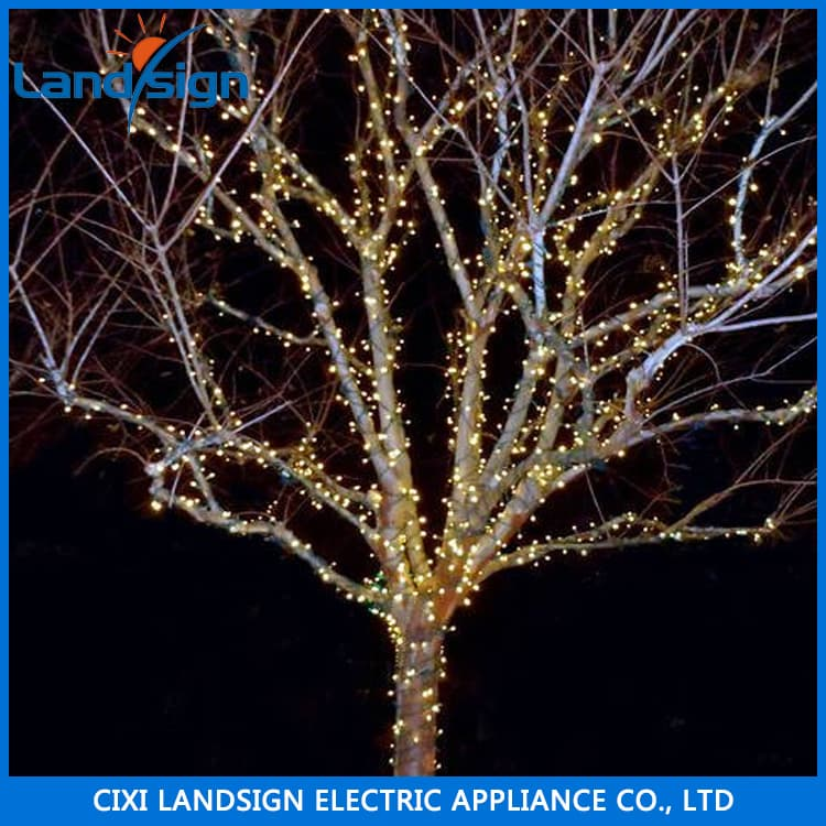 solar panel decorative outdoor christmas led tree light