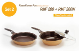 Indirect heating method double layered Risen Flower Pan