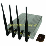 Adjustable cellphone jammer with remote control TG-101B-pro woriking 24 hours