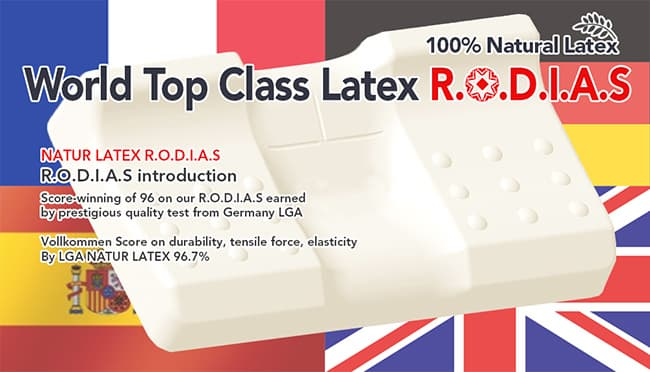 100_ natural latex RODIAS Super Pillow